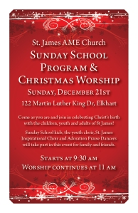 2014 Sunday School Program and Christmas Worship