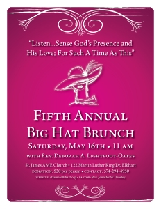 Big Hat Brunch 2015 flier